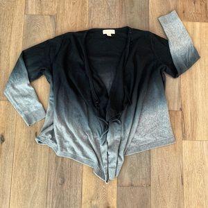 MICHAEL Michael Kors Ombré Front-Drape Cardigan XL